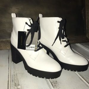 Forever 21 white booties